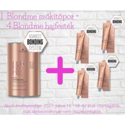 Blondme akciós csomag - 1 doboz Blondme szőkítőpor + 4 doboz Blondme hajfesték