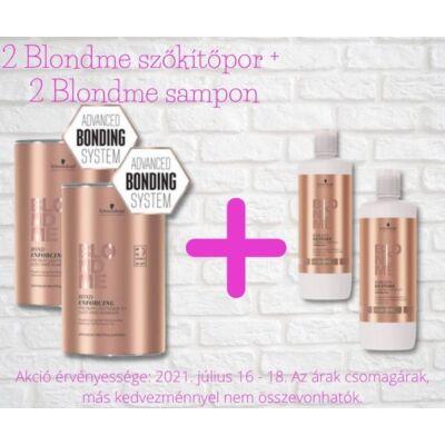 Blondme akciós csomag - 2 doboz Blondme szőkítőpor + 2 db 1L-es Blondme sampon
